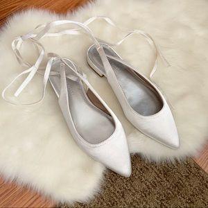 ASOS Design Lovingly Lace up Ballet d'orsey  Flats